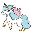 unicorn with wings vector image vector image