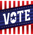 Vote Election Banner vector image vector image