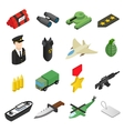 Weapon isometric 3d icons set vector image vector image