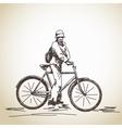 woman cyclist vector image vector image