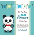 invitation baby shower card with panda desing vector image