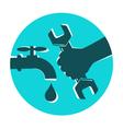 Repair waterpipe symbol vector image