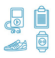 weareable technology with lifestyle app vector image