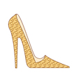 A high heel is placed vector image vector image