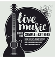 Acoustic guitar for live music