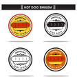 american hotdog emblem vector image vector image