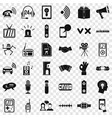 audioplayer icons set simple style vector image vector image