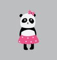 bagirl panda sticker or fashion patch cartoon vector image vector image