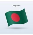 Bangladesh flag waving form vector image vector image