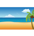 beach empty vector image vector image