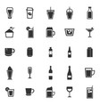 beverage icons on white background vector image vector image