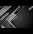 black and grey abstract technology background vector image vector image