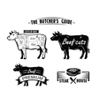 black cow symbol vector image