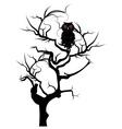 Black Owl2 vector image vector image