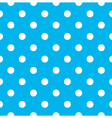 Blue polka dot seamless pattern design vector image vector image