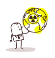 businessman and nuclear world vector image vector image
