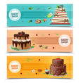cakes banners set vector image vector image