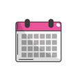 calendar to organizar important events vector image vector image