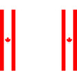 canadian flag with copy space vector image