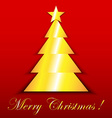 Chistmas tree on red vector image vector image