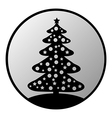 Christmas Tree button vector image vector image
