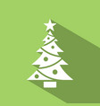 Christmas tree icon with star and shade color