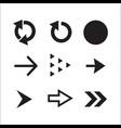 collection of black arrows vector image vector image
