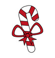 color silhouette image of christmas candy cane vector image