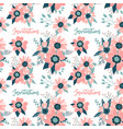 colorful floral seamless pattern with rosehip vector image