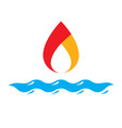 combination of water and fire elements abstract vector image vector image