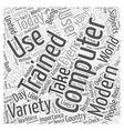 Computer Training Word Cloud Concept vector image vector image