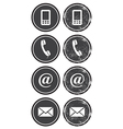 Contact web and internet retro icons set