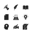 copywriting black icons vector image