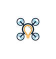 creative drone logo icon design vector image