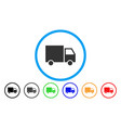 delivery van rounded icon vector image vector image