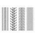 dotted tire track set 6 vector image vector image