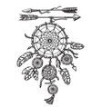 dream catcher with arrows vector image