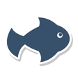 fish summer isolated icon vector image vector image
