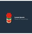 Flowers logo bunch of roses icon vector image