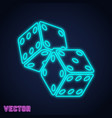 game dices icon vector image vector image