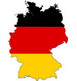 germany map outline with flag vector image vector image