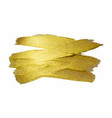 gold watercolor texture paint stain abstract vector image vector image