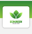 green leaf logo design inspiration vector image vector image