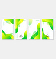 green liquid stories templates abstract vector image