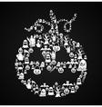 happy halloween pumpkin shape with elements eps10 vector image vector image