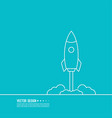 icon flying spaceship vector image vector image