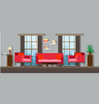 interior living room home furniture design modern vector image vector image