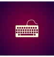 keyboard icon Flat design style vector image