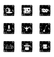 Magic icons set grunge style vector image vector image