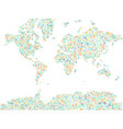 map of world covered by plants and leaves vector image